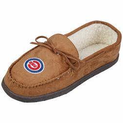Chicago Cubs MLB Moccasin Slipper Tan