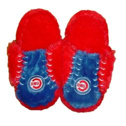 MLB Chicago Cubs Plush Two Tone Slippers-Large