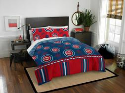 MLB Chicago Cubs Queen Bed In Bag Set