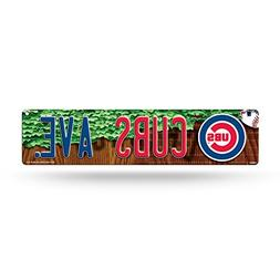 MLB Chicago Cubs High-Res Plastic Street Sign