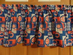 MLB CHICAGO CUBS Sports Team Bedroom Curtain Topper Valances