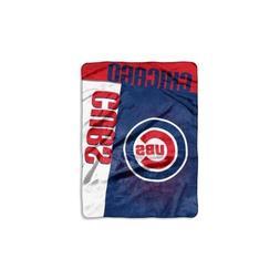 "MLB Chicago Cubs ""Strike"" Raschel Throw Blanket, 60"" x 80"""
