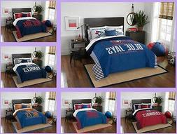 MLB Licensed 3 Piece Full Queen Comforter & Sham Bed Set In
