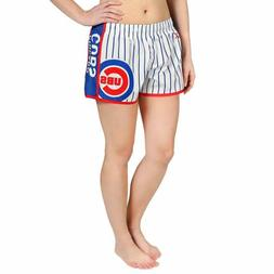 Forever Collectibles MLB Women's Chicago Cubs Pinstripe Shor