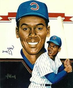 Mr Cub ERNIE BANKS 8x10 Vintage Artwork Photo CHICAGO CUBS w
