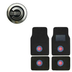 New 5pc MLB Chicago Cubs Car Truck Floor Mats & Chrome Emble