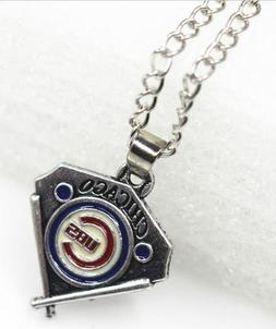 New Chicago Cubs Baseball Diamond Necklace MLB Team Logo Cha