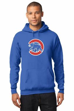 New Chicago Cubs Bear Men's Hoodie 2016 World Series Royal B