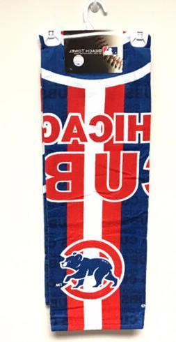 "New McArthur Chicago Cubs Cotton Beach Towel 30"" x 60"" Logo"