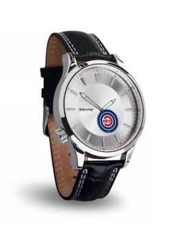 NEW Chicago Cubs Icon Men's Watch Jewelry Leather Stainless