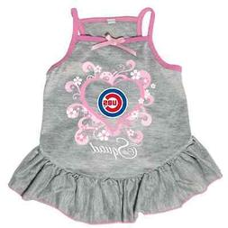 NEW CHICAGO CUBS PET DOG PINK TOO CUTE SQUAD CHEERLEADER JER