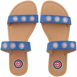 NEW Chicago Cubs Women's Double Strap Sandals Size Small 6-7
