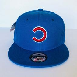 NEW Mens Chicago Cubs Baseball Cap Fitted Hat Multi Size Blu