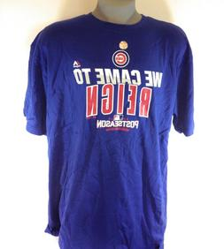 NEW Mens Majestic MLB Chicago Cubs 2016 We Came To Reign Pos