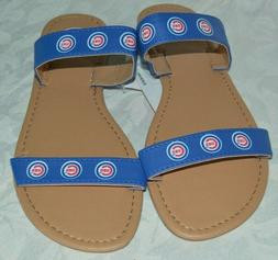 *NEW*  MLB Chicago Cubs Women's Large Sandals