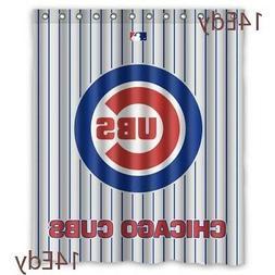 New Rare Chicago Cubs Baseball Custom Waterproof  Shower Cur