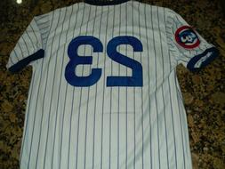 New Ryne  Sandberg #23 Chicago Cubs Vintage Pull-over Baseba