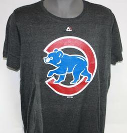 NEW Womens MAJESTIC Chicago Cubs Grey Logo Style Baseball ML