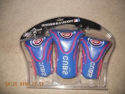 NIP Chicago Cubs Golf Club Headcovers Set of 3 Long Neck Con