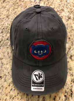 NWT CHICAGO CUBS HAT CAP COOPERSTOWN CLEAN UP '47 ADJUSTABLE