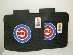 pair of chicago cubs auto floor mats