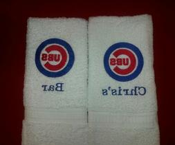 PERSONALIZE - CHICAGO CUBS BASEBALL MLB GYM OR BATH HAND TOW