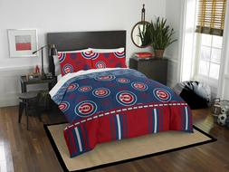 Queen Size Chicago Cubs Bed Bag Comforter Set MLB Bedding Co