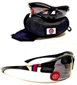 Read Listing! Chicago Cubs XL 3D Logo on Black Blade Sunglas