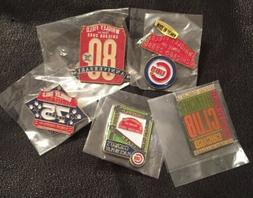 Set / Lot of 5 MLB Chicago Cubs Collector Pins~Sealed Vintag