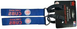 Set of 2 Chicago Cubs Officially Licensed Luggage Tag KeyCha