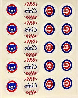 """SET of 20- 2"""" CHICAGO CUBS #2 ADHESIVE STICKERS.Making Birth"""