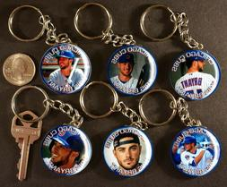 Set of 6 Key Chains KRIS BRYANT Chicago Cubs Keychains