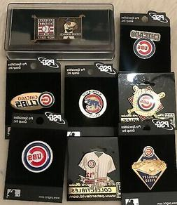 Set of 8 Chicago Cubs Logo MLB Licensed Collector Pins BLOWO