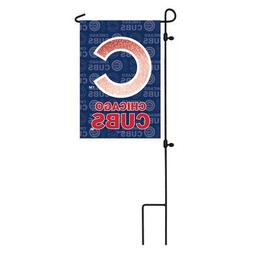 Team Sports America Suede Chicago Cubs Glitter Logo Garden F