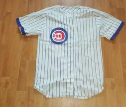 Vtg Chicago Cubs Rawlings Home Jersey Blank Pinstripe 90s Au