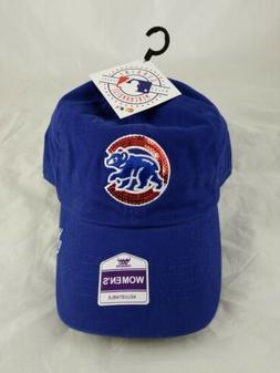 Women's Fan Favorite Royal Chicago Cubs Sparkle Adjustable H