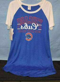 Women's Size Small Chicago Cubs Sideline Apparel Night Shirt