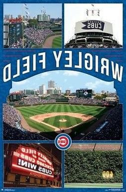 WRIGLEY FIELD - CHICAGO CUBS POSTER - 22x34 - MLB BASEBALL 1